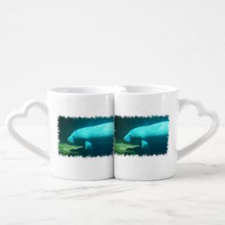 Manatee Swimming Couple Mugs