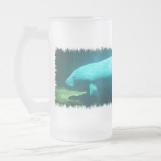 Manatee Swimming Frosted Beer Mug