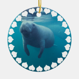 Manatee Swimming Ornament