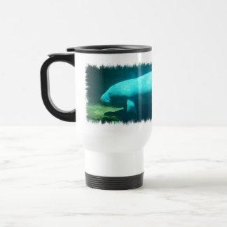 Manatee Swimming Plastic Travel Mug