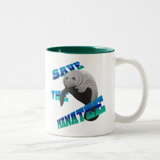 Manatee Two-Tone Coffee Mug