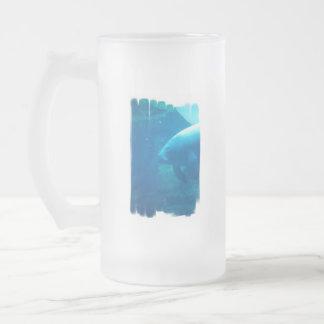 Manatee Underwater Frosted Beer Mug