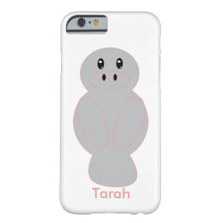 Manatee with Pink Outline Barely There iPhone 6 Case