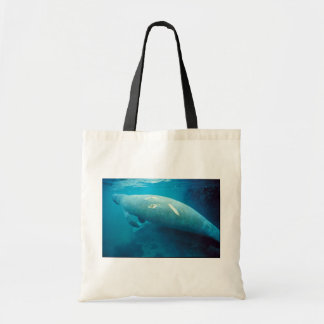 Manatee with Scar Canvas Bag