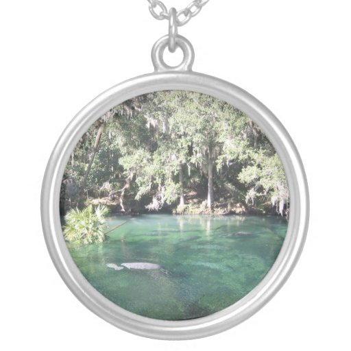 Manatees at Blue Springs Necklace