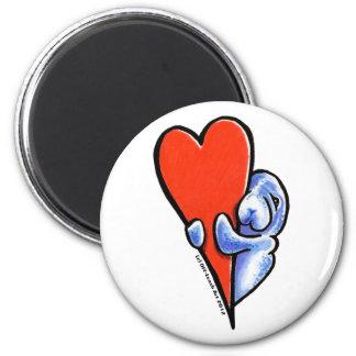Manatees del amor imán redondo 5 cm