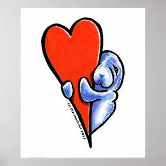 Manatees del amor póster