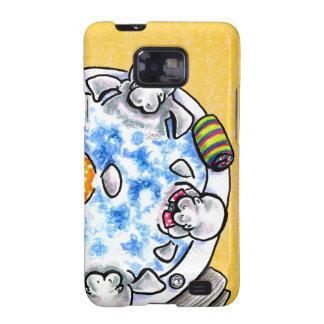 Manatees Hot Tub Fun Off-Leash Art™ Samsung Galaxy S2 Cover