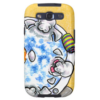 Manatees Hot Tub Fun Off-Leash Art™ Galaxy S3 Case