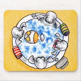Manatees Hot Tub Fun Off-Leash Art™ Mouse Pad