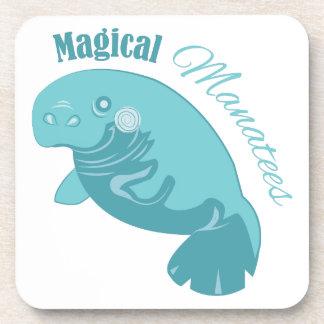 Manatees mágicos posavaso