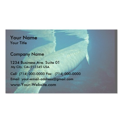 Manatees Surfacing for Air Double-Sided Standard Business Cards (Pack Of 100)