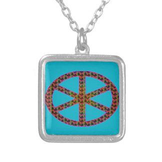 Manat's wheel of fate square pendant necklace