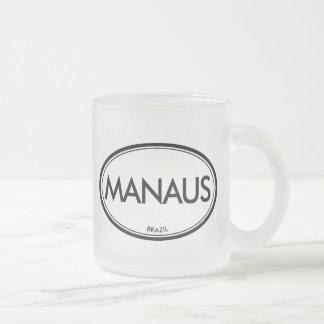 Manaus, Brazil Frosted Glass Coffee Mug