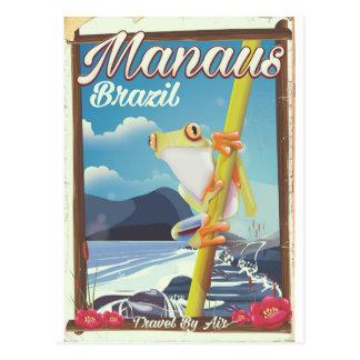 Manaus Brazil vintage travel poster Postcard
