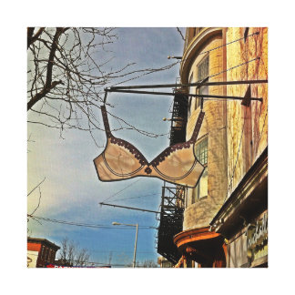 Manayunk Main Street Touchables Bra Sign Stretched Canvas Prints