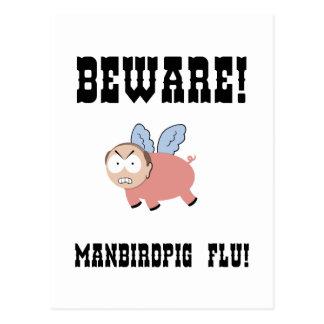 manbirdpig-LTT Postcard