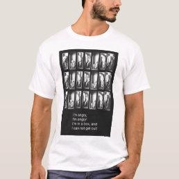 MANBOX Poster T Shirt white.
