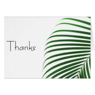 ManCard Tropical Thanks (notecard) Card