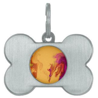 Mancha abstracta placas mascota
