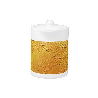 Mancha amarilla de la pintura de la textura