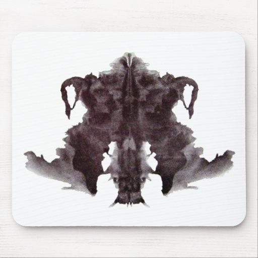 Mancha blanca /negra 4 de Rorschach Tapetes De Raton
