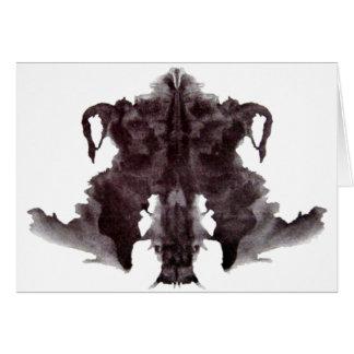 Mancha blanca /negra 4 de Rorschach Tarjeton