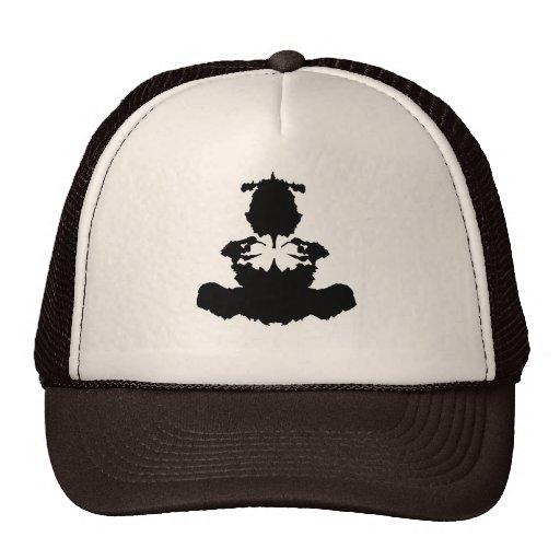 mancha blanca /negra Buda de la tinta Gorras De Camionero