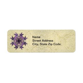 Mancha blanca /negra de la tinta de la lavanda etiqueta de remite
