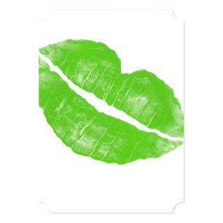 """Mancha blanca /negra irlandesa verde grande del invitación 5"""" x 7"""""""