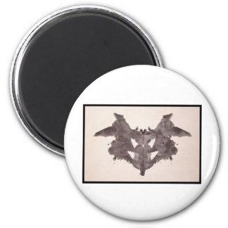 Mancha de tinta 1,0 de Rorschach Imán Redondo 5 Cm