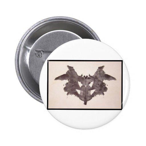 Mancha de tinta 1,0 de Rorschach Pin Redondo 5 Cm