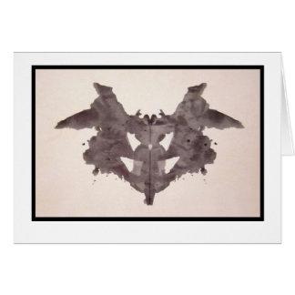 Mancha de tinta 1,0 de Rorschach Tarjeta De Felicitación