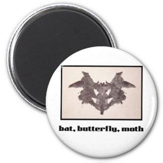 Mancha de tinta 1 de Rorschach Imán Redondo 5 Cm