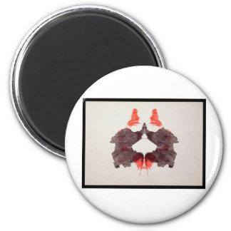 Mancha de tinta 2,0 de Rorschach Imán Redondo 5 Cm