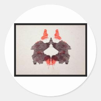 Mancha de tinta 2,0 de Rorschach Etiquetas Redondas