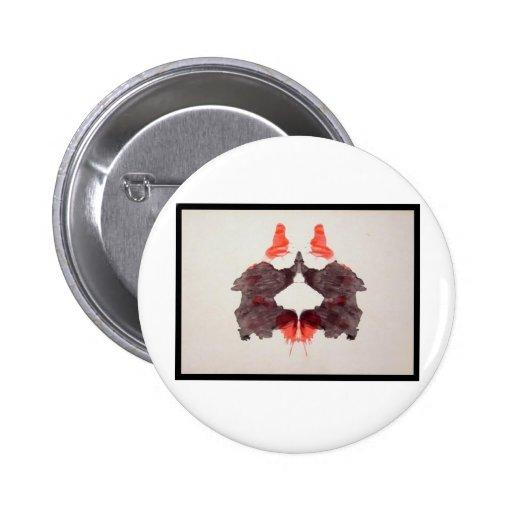 Mancha de tinta 2,0 de Rorschach Pin Redondo 5 Cm