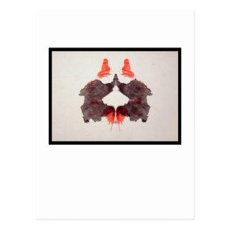 Mancha de tinta 2,0 de Rorschach Tarjeta Postal