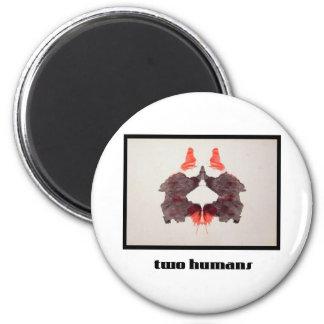 Mancha de tinta 2 de Rorschach Imán Redondo 5 Cm
