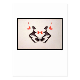 Mancha de tinta 3,0 de Rorschach Tarjeta Postal