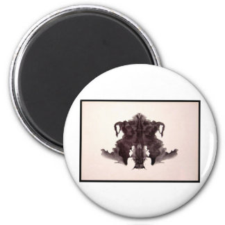 Mancha de tinta 4,0 de Rorschach Imán Redondo 5 Cm