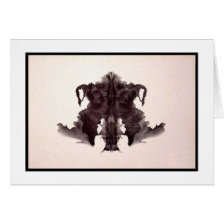 Mancha de tinta 4,0 de Rorschach Tarjeta De Felicitación