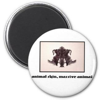 Mancha de tinta 4 de Rorschach Imán Redondo 5 Cm