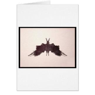Mancha de tinta 5 0 de Rorschach Tarjetón