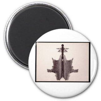 Mancha de tinta 6,0 de Rorschach Imán Redondo 5 Cm