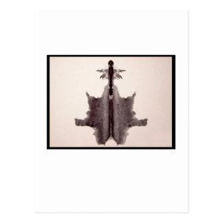 Mancha de tinta 6,0 de Rorschach Tarjeta Postal