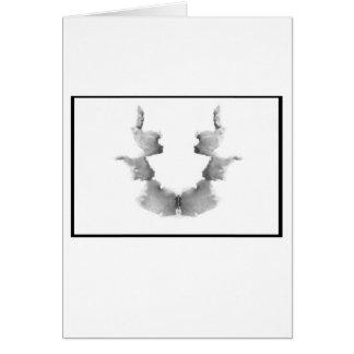 Mancha de tinta 7,0 de Rorschach Tarjeta De Felicitación