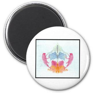 Mancha de tinta 8,0 de Rorschach Imán Redondo 5 Cm