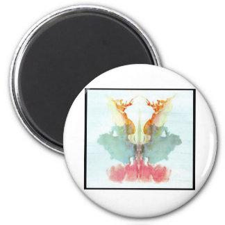 Mancha de tinta 9,0 de Rorschach Imán Redondo 5 Cm
