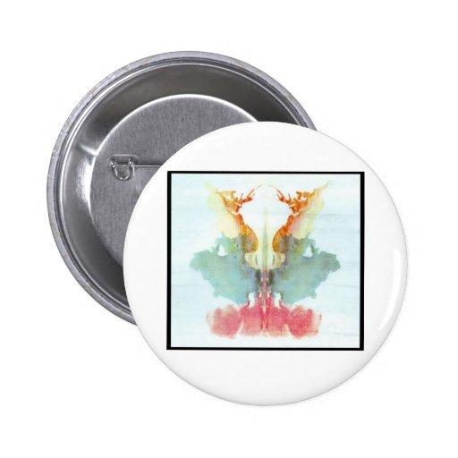 Mancha de tinta 9,0 de Rorschach Pin Redondo De 2 Pulgadas